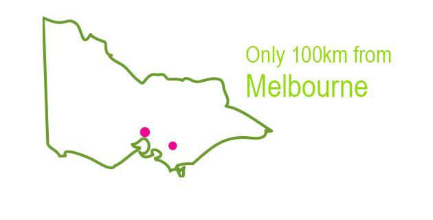 Only 100km from Melbourne