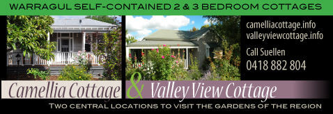 camellia cotage and valley view cottage